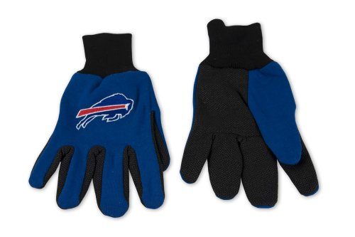 NFL Buffalo Bills Two-Tone Gloves, Blue/Black