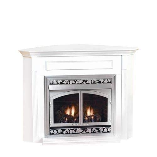 Empire EMBC1SO Standard Corner Cabinet Mantel with Base - Oak