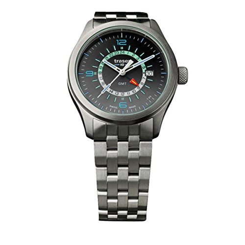 traser H3 Silver P59 Aurora GMT Watch | Steel Strap