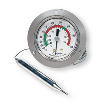 cooper-atkins 6142–58–3 VAPOR Tension Panel Thermometer mit Front ...