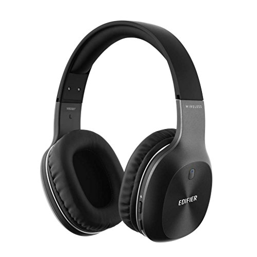 Edifier W800BT Noise Isolating Bluetooth Headphones Hi-Fi Deep Bass Wireless Headphones Over Ear, Comfortable Earpads for Travel Work Sports TV PC Iphone - Black