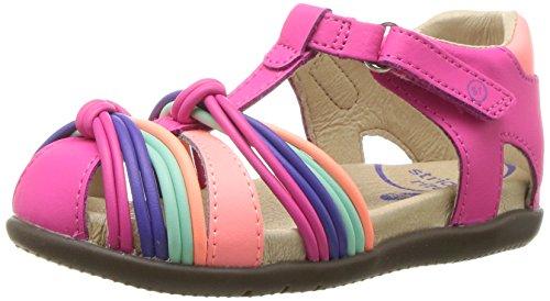 Stride Rite Girls' SR Tech Dana Sandal, Pink, 9.5 Medium US Toddler