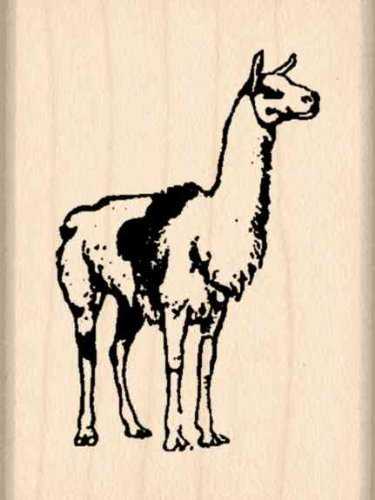 Llama Rubber Stamp - 1-1/2 inches x 2 inches Stamps by Impression ST 0735