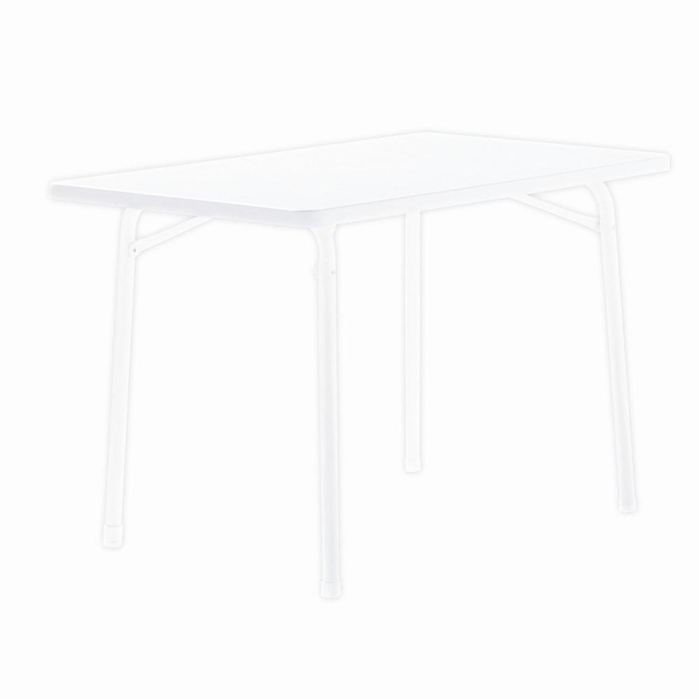 Sieger 120 W Garten-Klapptisch mit mecalit-Pro-Platte 115 x x x 70 cm, Stahlrohrgestell weiß, Tischplatte Marmordekor weiß bb95d3