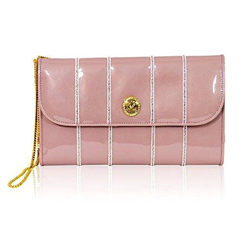 portefeuille en à avec rose oversize chaîne italien Pochette Orlandi Valentino design cuir qwvnI6BxE