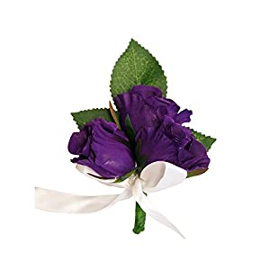Pin corsage/Boutonniere(XLPC001-PP)-Beautiful Quality Keepsake corsage/Boutonniere (Pin included) (Purple) 22