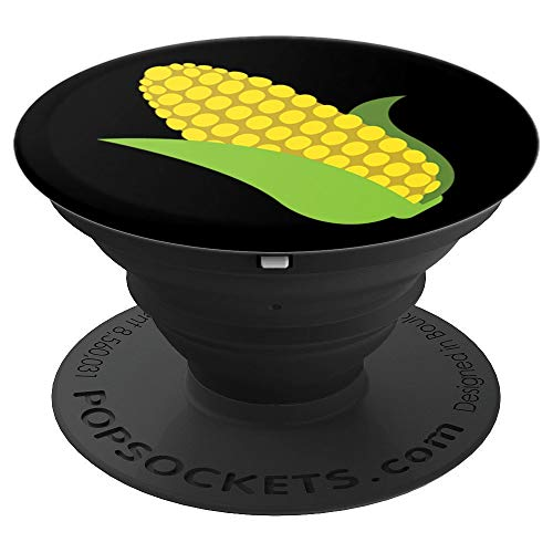 Emoji Corn on the Cob Buttery-Yellow Kernels Texting - PopSockets Grip and Stand for Phones and Tablets