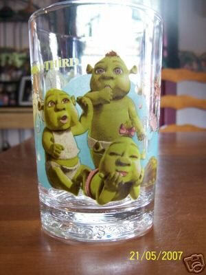 McDonald's Shrek the Third (3) Cups/Glasses- BABY OGRES ()