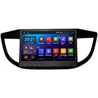 SYGAV Android 5.1.1 Lollipop Quad Core 10.2 Inch In-dash Car Stereo Video Player 1024x600 GPS Sat Navigation for HONDA CR-V CRV 2012-2015 with Wifi Bluetooth Radio