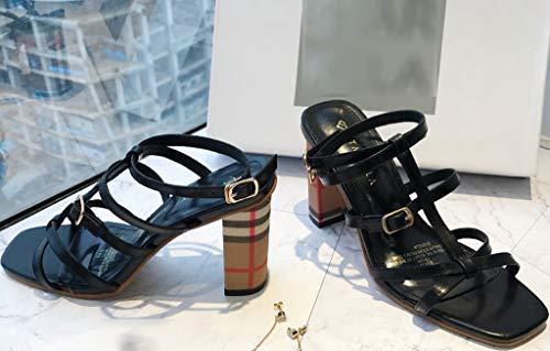 Colore dello Elegante Stile 35 Confortevole Dimensioni Coreana con 1 Tacco Alto Versione store Shoe Sandali e wH7aqgU7I