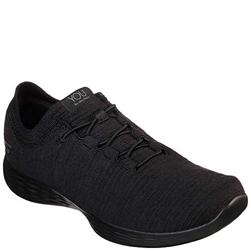 Skechers Women's You Define Courage Sneaker, Black, 7.5 M US