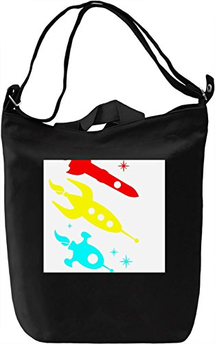 Colorful Space Ship Texture Borsa Giornaliera Canvas Canvas Day Bag| 100% Premium Cotton Canvas| DTG Printing|