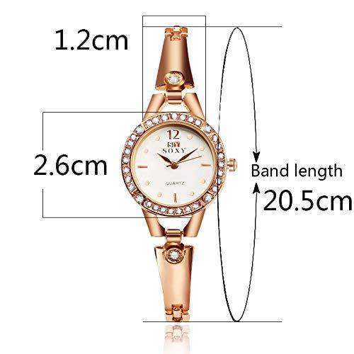 HWCOO Hermoso Relojes de Pulsera Pulsera SOXY Reloj Moda Mujer Reloj de Pulsera de aleación Reloj