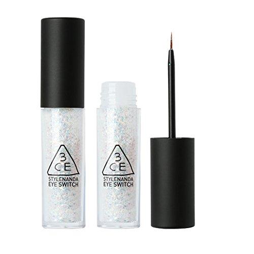 3CE Silver Glitter WhiteLong Lasting Waterproof Sparkling Eyeliner ,0.2oz by 3ce