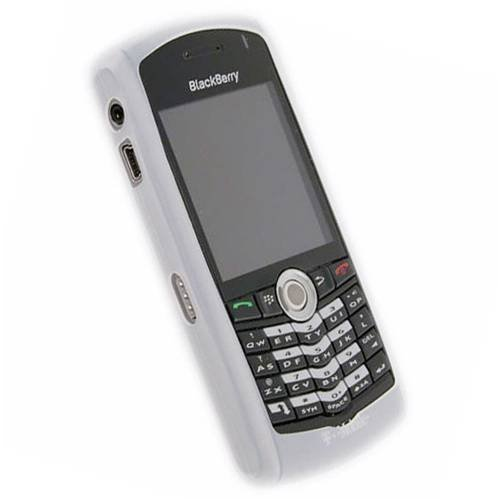 BLACKBERRY HDW-13751-002 White Silicone Skin Cover Case for Blackberry Pearl 8100 ()