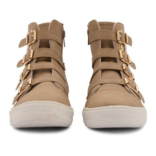 Footwear Sensation - Zapatillas de sintético para mujer marrón - caqui