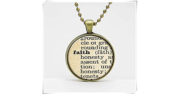 Inspirational Dictionary Word Pendant