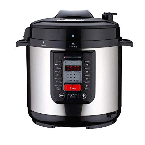 Price comparison product image Homeleader Pressure Cooker 14-in-1 Multi-Use Programmable Electric Pressure Cooker, TANGON Slow Cooker,  Rice Cooker,  Steamer,  Yogurt Maker,  Sauté and Warmer and Steam Rack 6Qt Stainless Steel
