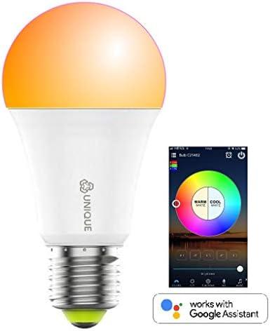 Smart Light Bulbs WiFi led Multicolors RGBCW Alexa hub Google Voice Control NO HUB Required
