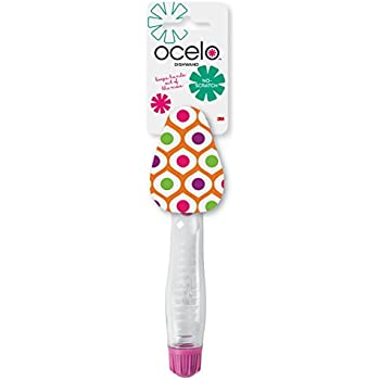 ocelo Non-Scratch Dishwand, Colorful Designs May Vary, 4-Dishwands