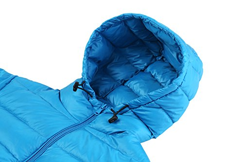 Hooded Acid Blue Packable Weight Ultra Down 2017 Coat Wantdo Jacket Light Women's 4OSwOqxZ
