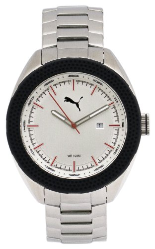 Puma Men's Watch PU103261001 Stainless Steel Bracelet and Silver Dial