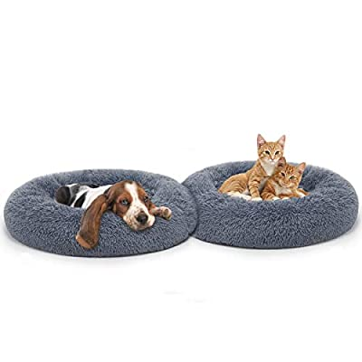MIXJOY Orthopedic Dog Bed Comfortable Donut Cuddler Round Dog Bed Ultra Soft Washable Dog and Cat Cushion Bed (23''/30'')