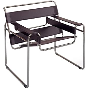 Wassily Chair amazon com marcel breuer wassily chair brown leather high