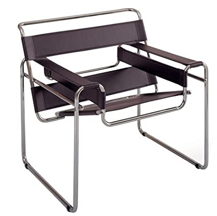 amazon com marcel breuer wassily chair brown leather high