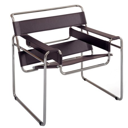 "Marcel Breuer Wassily Chair - Brown Leather ""High Quality"""