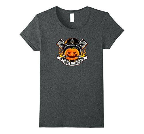 Womens halloween motorcycle motorbike bike rider shirt costume XL Dark - Costume Rider Halloween Motorcycle