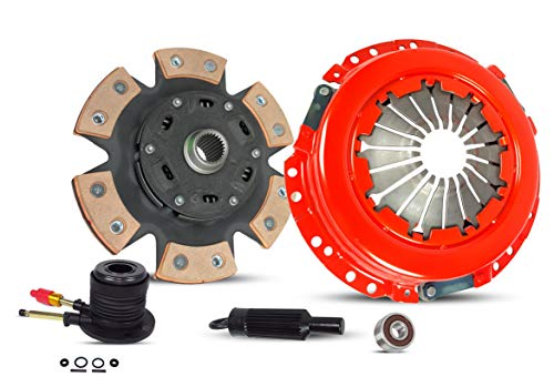Clutch With Slave Kit Works With Gmc Canyon Chevy Colorado Canyon Isuzu I-280 I-290 Z71 Z85 SL SLE SLT WT Extended Fleet 2004-2012 2.8L l4 GAS DOHC Naturally Aspirated (6-Puck Disc Stage 2) Chevrolet Clutch Slave Cylinder