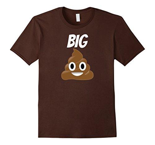Men's Poop Emoji T Shirt Big Poop Shirt Poop Emoji 2XL (Mens Fun Dip Costume)