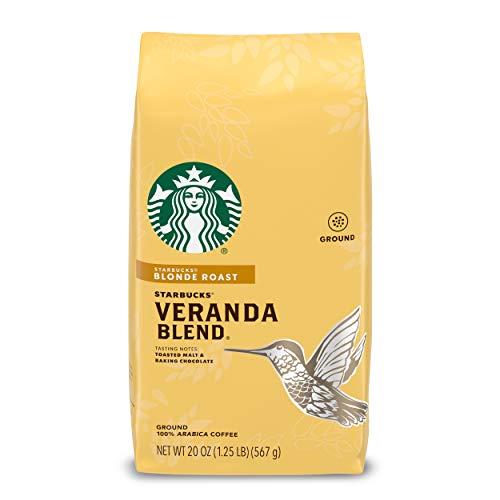 Starbucks Blonde Roast Ground Coffee - Veranda Blend - 100% Arabica - 1 Bag (20 Oz.)