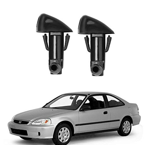 ZHParty Windshield Washer Nozzle Sprayer Assembly Kit Compatible for HONDA ACURA 86-01 Acura Integra, 93-97 Honda Civic Del Sol, 97-06 Honda Civic Type R, 92-97 Honda CR-X del Sol, 89-97 Honda Accord