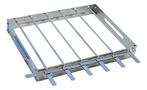 Charcoal Stainless Steel Oven (KonExcel SkeweRack - Turns 6 Kabobs Simultaneously, Sturdy Stainless Steel Shish Kabob Skewer & Rack Set (1 Rack + 6 Skewers))