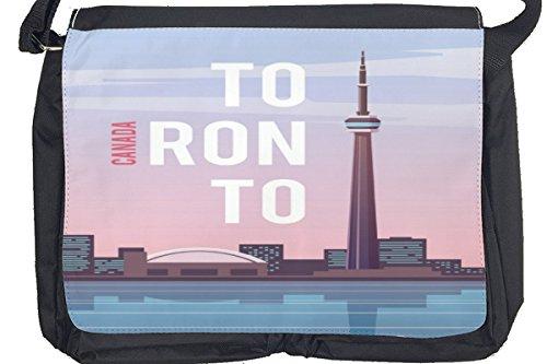 Borsa Tracolla Città Toronto Canada Stampato