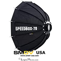 SMDV Diffuser SPEEDBOX-S70B - Professional 28-inch (70cm) Rigid Portable Quick Folding Dodecagon Softbox - Bowens S-Type Mount (DA-02) - Legio Limited Edition