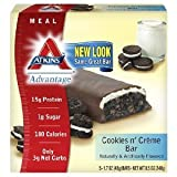 Atk Adv 5pk Cookies & Cre Size 9.0z Atkins Advantage 5pk Cookies & Cream 9oz