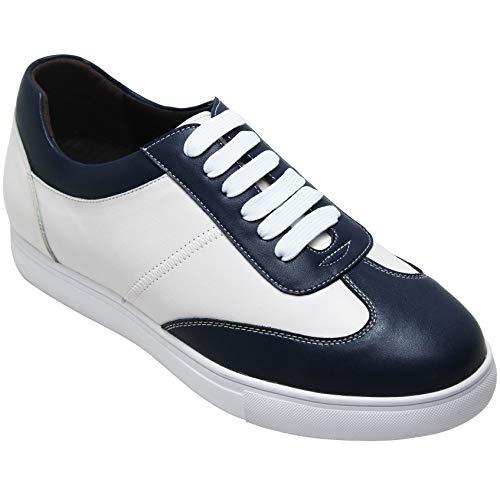 White Blue CALTO Y27031 Basso EU 40 A Uomo Collo 7X7U1f