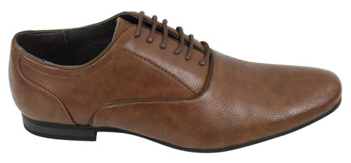 Mens Negro Tan Brown Italian Leather Designer Shoes inteligente Casual Classic marrón