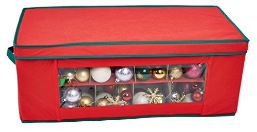 Storeasy  36 Compartment Red Christmas Bauble Ornament