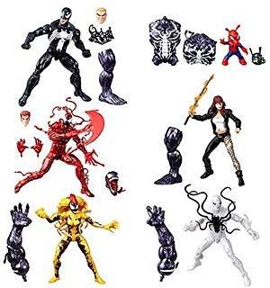 Venom Marvel Legends Wave 1 Action Figures Set of 6 (Monster Venom BAF)
