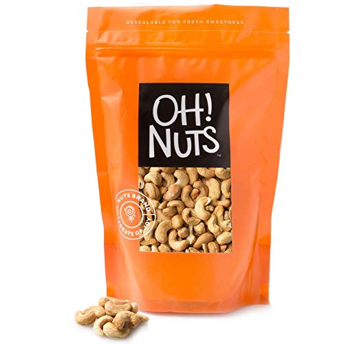 Cashews Oven Roasted Finely Salted, Dry Roasted Salted Cashews - Oh! Nuts (3 LB Dry Roasted Salted Cashews)