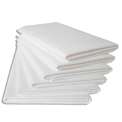 White Chamois - 2 Pack Super Absorbent Towel, Absorber Chamois, Shammy Cloth, For Car Best Wash Cleaning, Synthetic Leather PVA Towel, Drying Ultimate Towel for Fast, Home clean rub glass No trace, 20 x 16 Inch