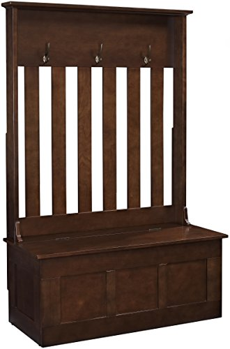 Crosley Furniture Ogden Entryway Hall Tree with Storage Bench - Vintage Mahogany by Crosley Furniture