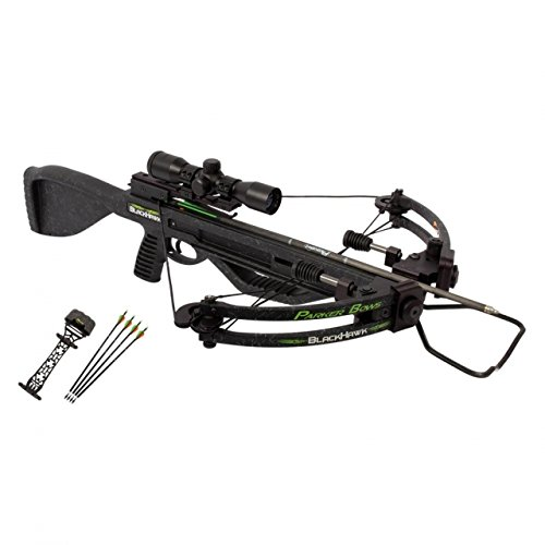 Parker Bows BlackHawk Crossbow Package with 3X Illuminated Multi-reticle Scope