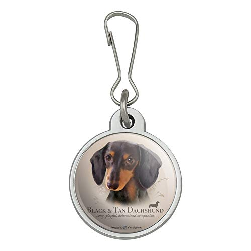 Dachshund Pull - Black and Tan Dachshund Wiener Dog Breed Jacket Handbag Purse Luggage Backpack Zipper Pull Charm