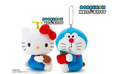 Amazon ドラえもんキティコラボぬいぐるみ S アニメ萌えグッズ 通販