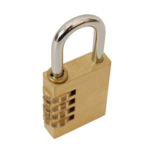 Costume Quest 2 Trailer (Pair of 4 Dial Resettable Combination Brass Padlock by Kurtzy - With 1.2 inch hardened steel shackle and 10000 possible combinations and Free Instructions - Perfect for Garages, Sheds, Gym or Cabinets)
